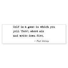 'Golf Quote' Bumper Sticker