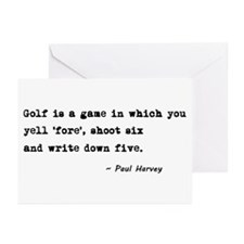'Golf Quote' Greeting Cards (Pk of 10)