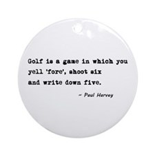 'Golf Quote' Ornament (Round)
