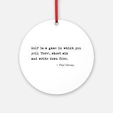 'Golf Quote' Ornament (Round)