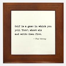 'Golf Quote' Framed Tile