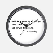 'Golf Quote' Wall Clock