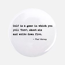 "'Golf Quote' 3.5"" Button"