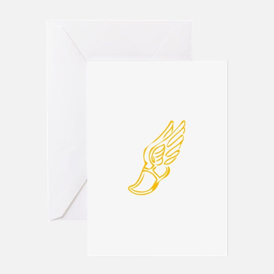Cute Track shoes Greeting Card