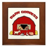 Barn Goddess Framed Tile