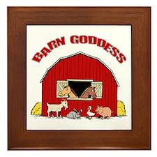 Barn Goddess Framed Tile