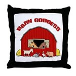 Barn Goddess Throw Pillow