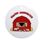 Barn Goddess Ornament (Round)