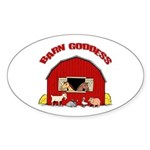 Barn Goddess Oval Sticker