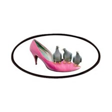 Pigeons Pink Shoe Patches