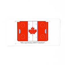 Canadian Hockey Aluminum License Plate