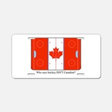 Canadian Hockey Aluminum License Plate