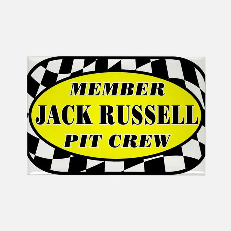 Jack Russell PIT CREW Rectangle Magnet