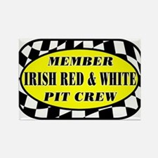 Irish Red & White PIT CREW Rectangle Magnet