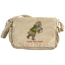 Schnauzer Detective Messenger Bag