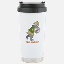 Schnauzer Detective Travel Mug
