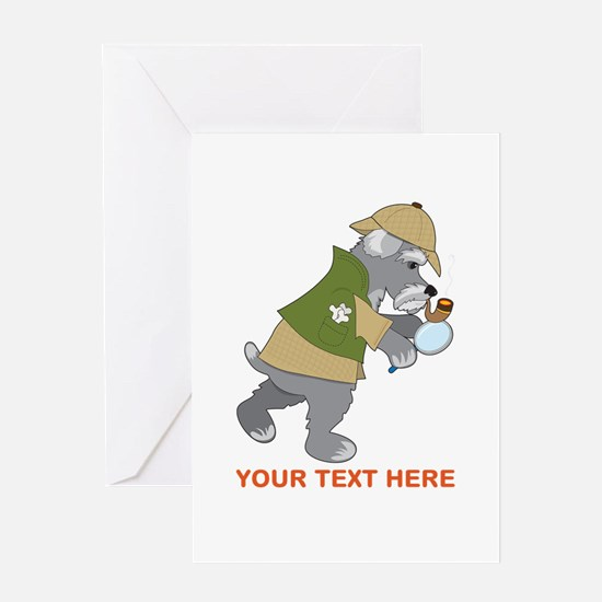 Schnauzer Detective Greeting Card