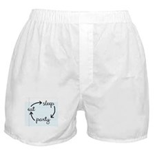 'Eat Sleep Party' Boxer Shorts
