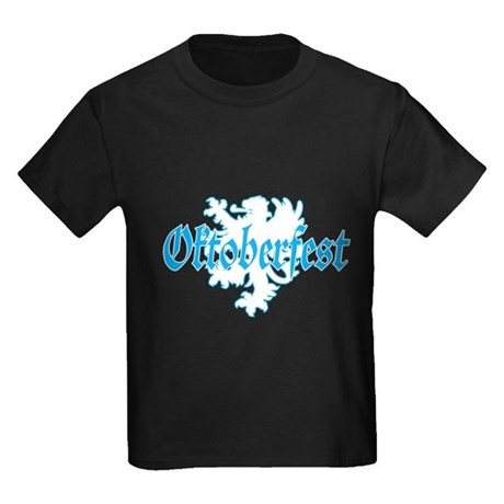 Oktoberfest White Lion Kids Dark T-Shirt