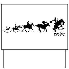Equestrian Evolution Yard Sign