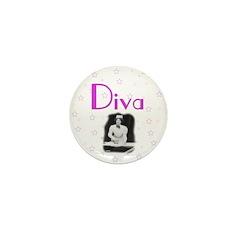 Diva Mini Button (100 pack)