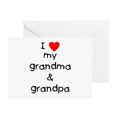 I love my grandma & grandpa Greeting Cards (Pk of