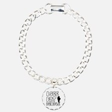 I see fat people Charm Bracelet, One Charm