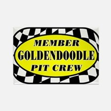 Goldendoodle PIT CREW Rectangle Magnet