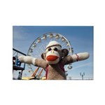 Ernie the Sock Monkey Ferris Rectngle Magnet(10pk)