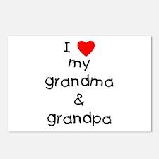 I love my grandma & gran Postcards (Package of 8)