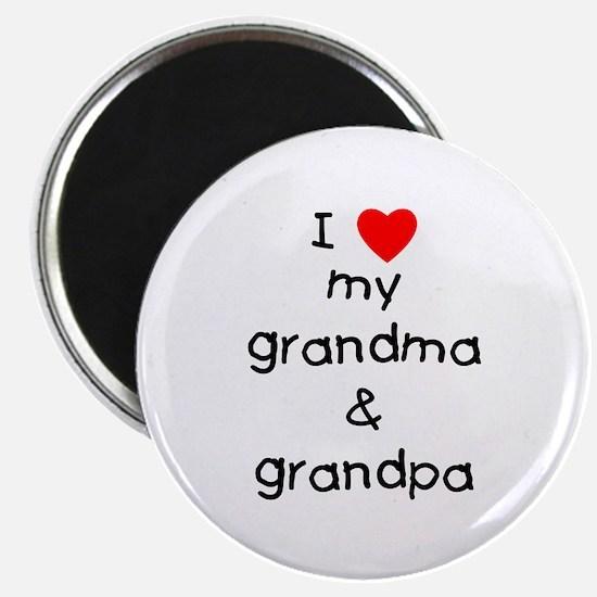 "I love my grandma & grandp 2.25"" Magnet (10 pack)"