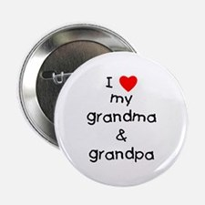 """I love my grandma & grandpa 2.25"""" Button"""