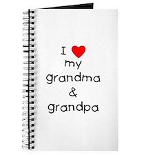 I love my grandma & grandpa Journal