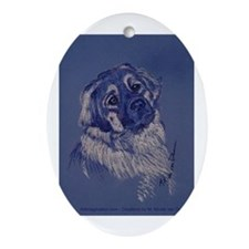 """""""A Dog Understands"""" Ornament (Oval)"""