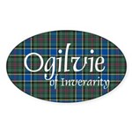 Tartan - Ogilvie of Inverarity Sticker (Oval 10 pk