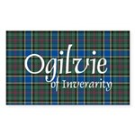 Tartan - Ogilvie of Inverarity Sticker (Rectangle