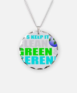 Clean, Green, Serene earth Necklace