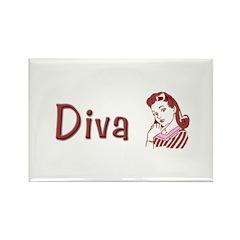 Diva Rectangle Magnet (10 pack)