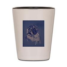 """""""A Dog Understands"""" Leonberger Shot Glass"""