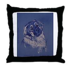 """""""A Dog Understands"""" Leonberger Throw Pillow"""