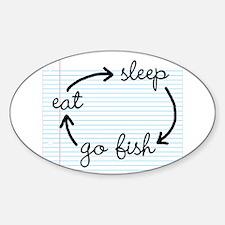 'Eat Sleep Go Fish' Decal