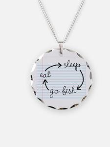 'Eat Sleep Go Fish' Necklace