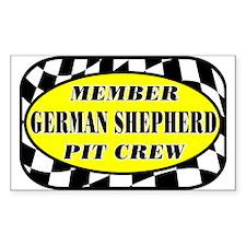 German Shepherd PIT CREW Decal