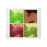 Pop Art Spider Web Throw Blanket