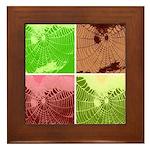 Pop Art Spider Web Framed Tile