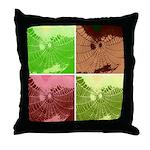 Pop Art Spider Web Throw Pillow