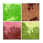 Pop Art Spider Web Tile Coaster