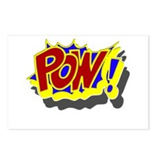 POW! Comic Book Style Postcards (Package of 8)