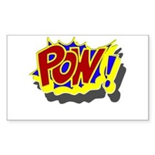 POW! Comic Book Style Decal