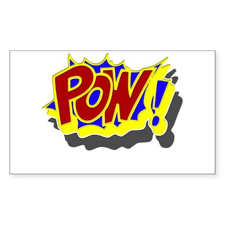 POW! Comic Book Style Sticker (Rectangle)